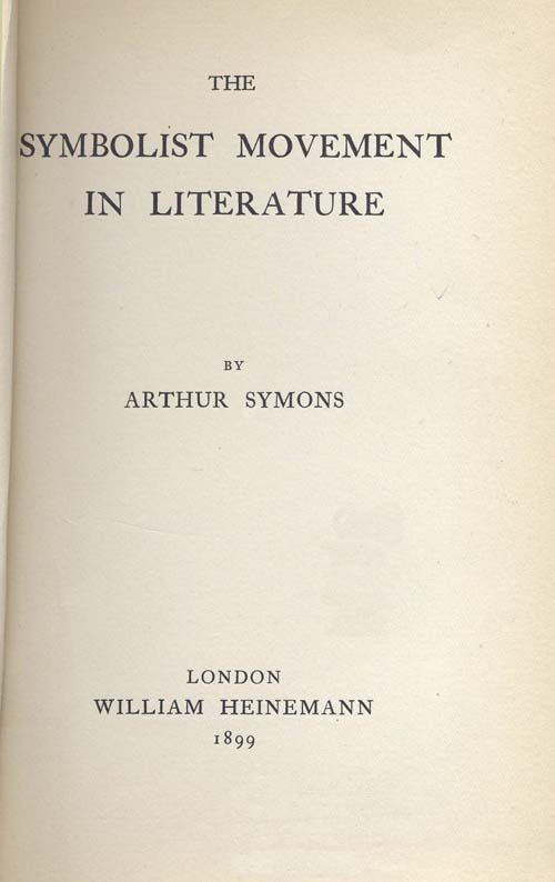 The Symbolist Movement in Literature