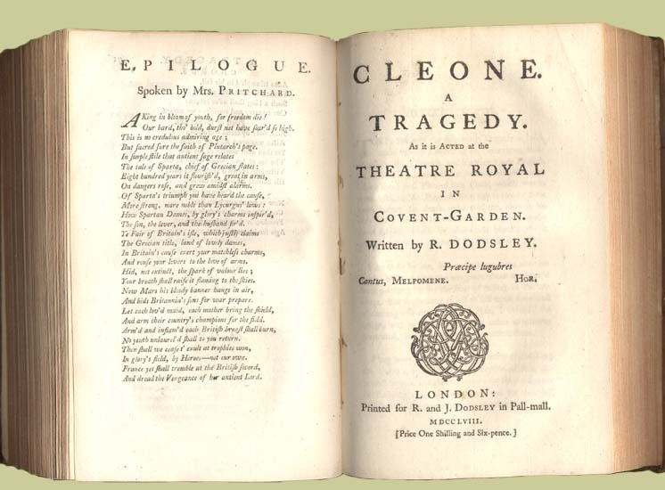 Cleone : A Tragedy as it is Acted at the Theatre Royal in Covent-Garden