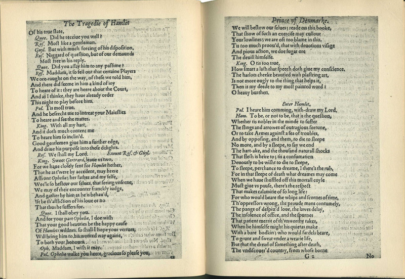 Shakespeare's Hamlet, the Second Quarto, 1604
