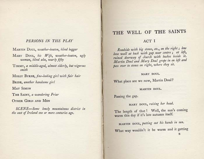 The Well of the Saints: A Play