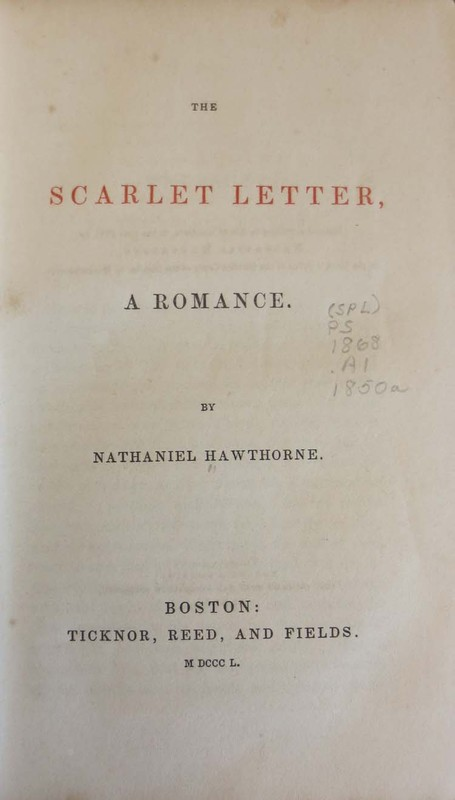 The Scarlet Letter : A Romance