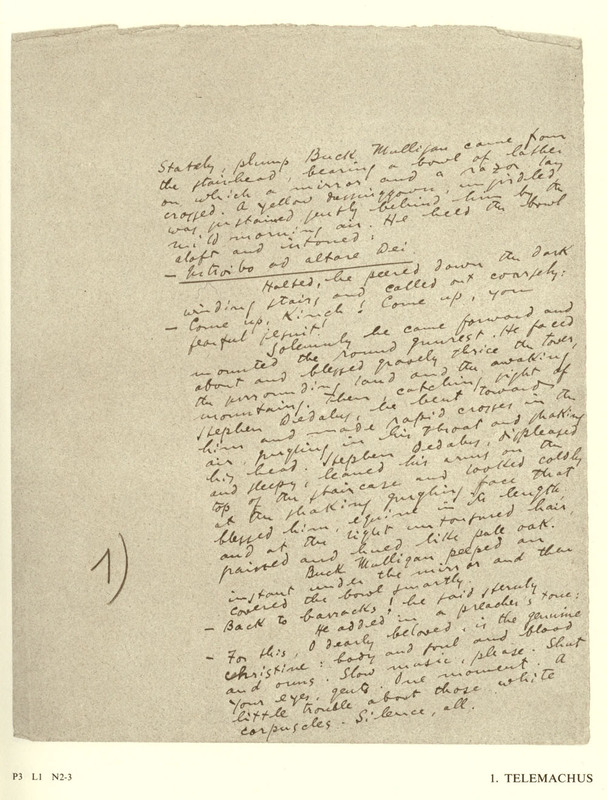 Ulysses : A Facsimile of the Manuscript