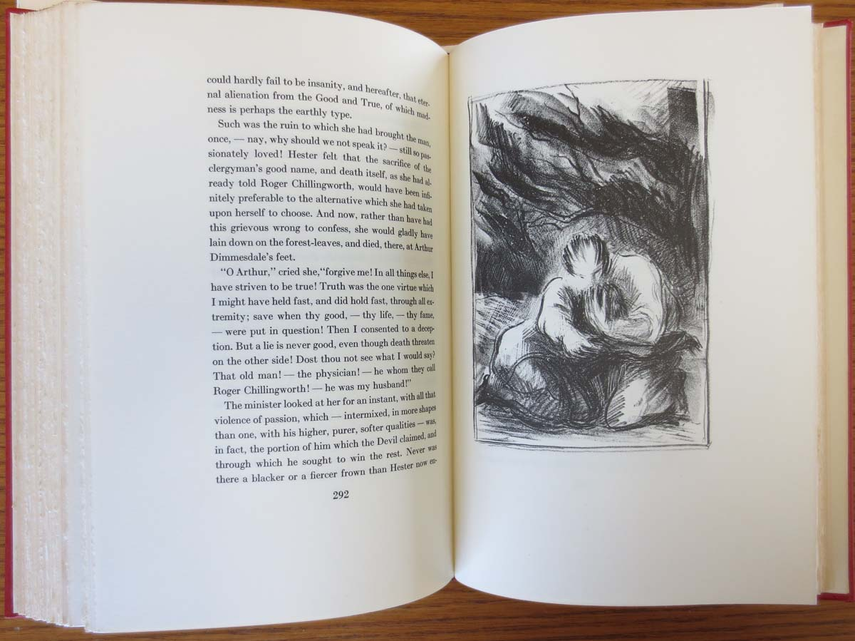The scarlet letter limited editions club 1941 the classic text the scarlet letter madrichimfo Choice Image