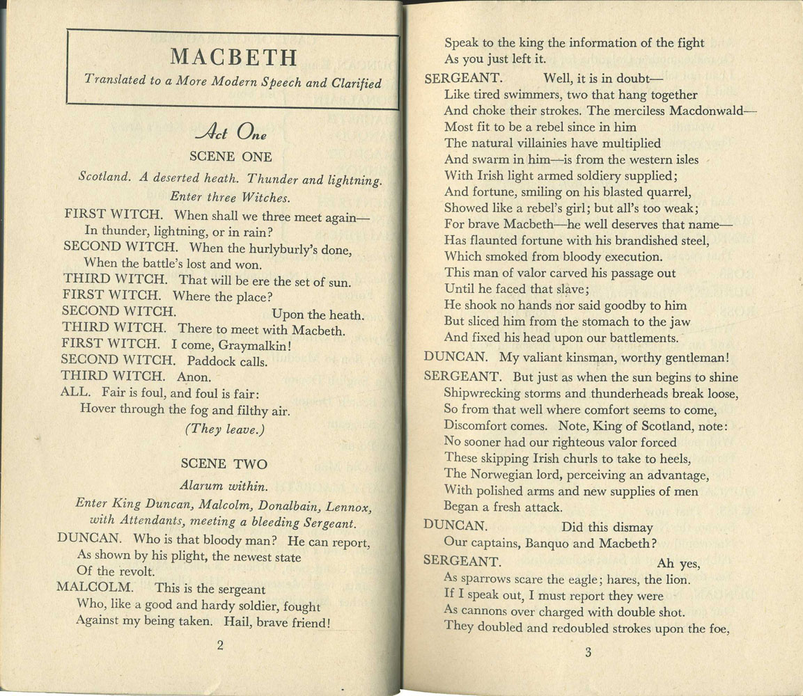 speech macbeth In this speech, lady macbeth's language is choppy, jumping from idea to idea as her state of mind changes her sentences are short and unpolished, reflecting a mind too disturbed to speak eloquently although she spoke in iambic pentameter before, she now speaks in prose—thus falling from the noble to the prosaic.