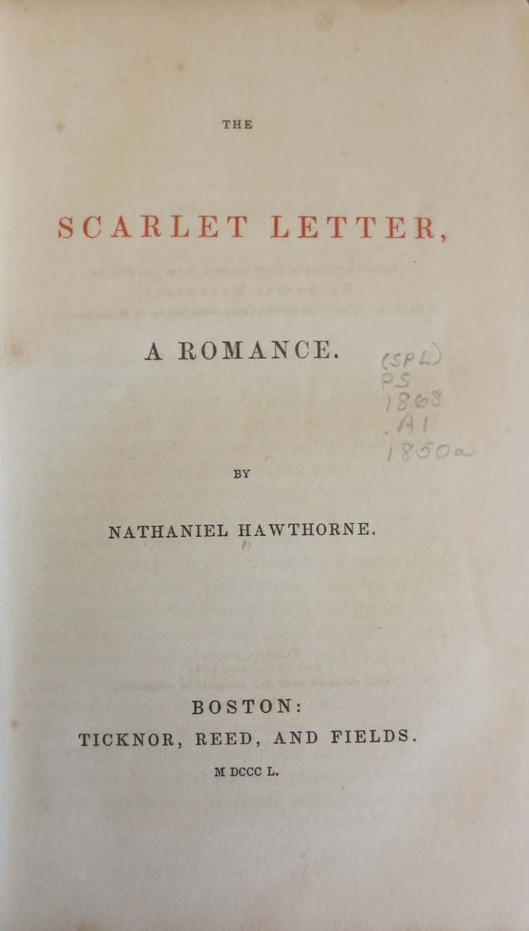 the scarlet letter ticknor reed and fields acirc middot the classic the scarlet letter a r ce nathaniel hawthorne