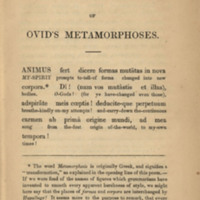 The First Book of Ovid's Metamorphoses