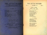 The Little Review, October 1918, Vol. V, No. 6