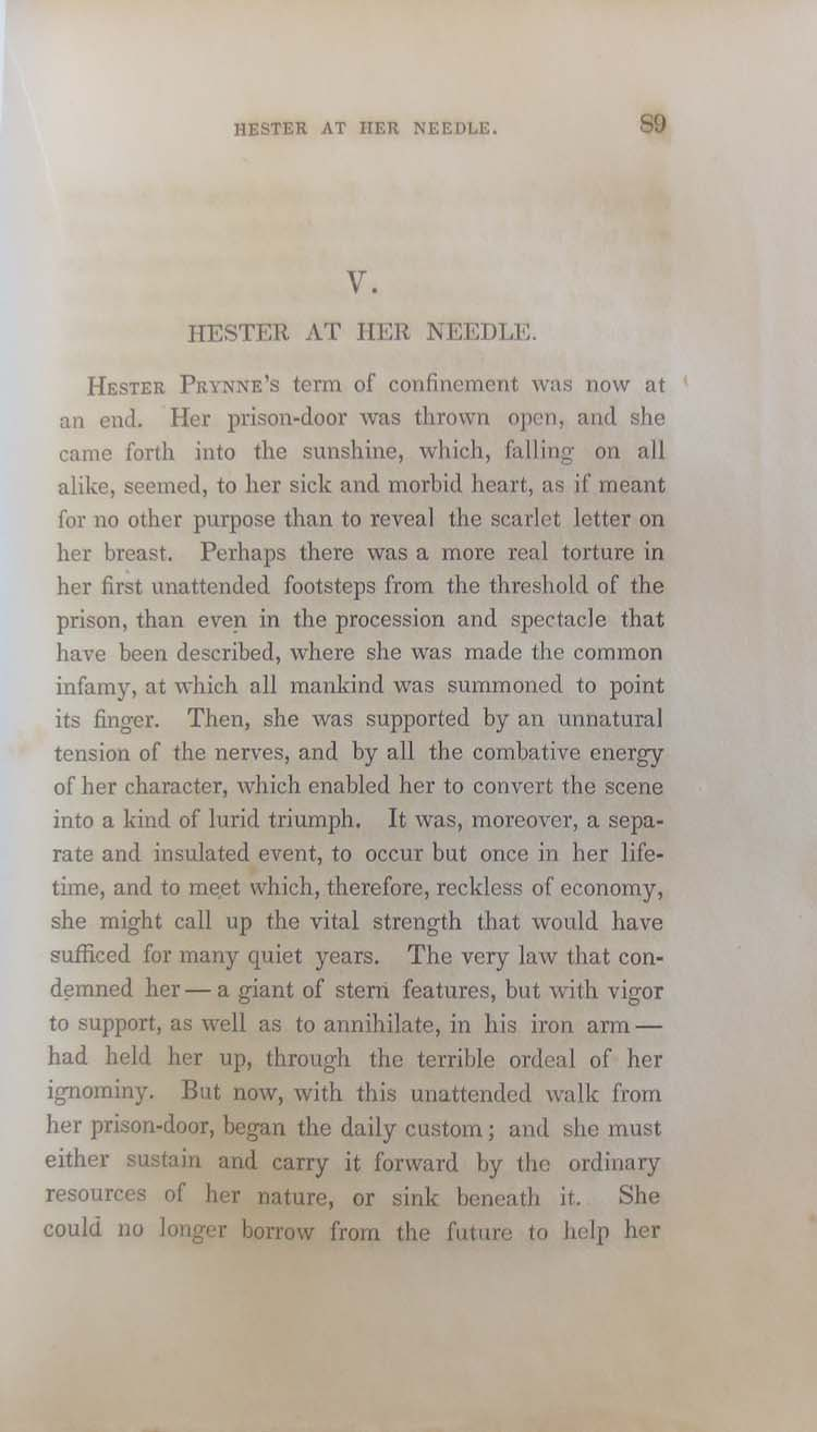 The Scarlet Letter Ticknor Reed and Fields 1850 · The Classic