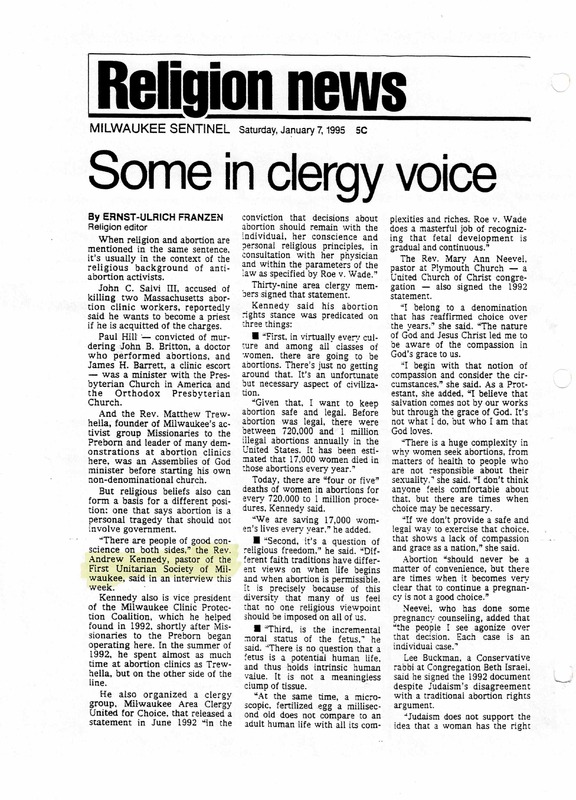 P. 1, Some in clergy voice abortion rights support, 1-7-1995.png