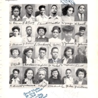 1946 St. Benedict the Moor High School yearbook page