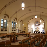 Interior of St. Benedict the Moor Roman Catholic Church