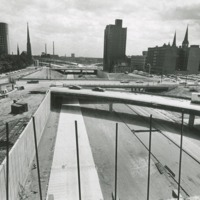 Construction of I-43 near St. Benedict the Moor